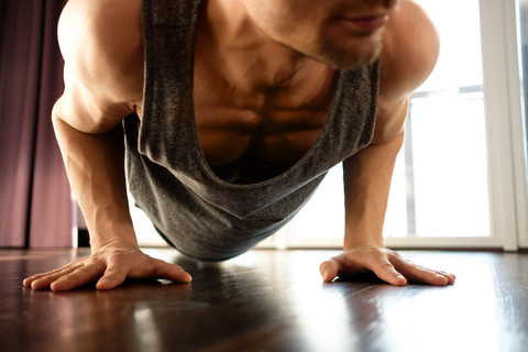 An effective at-home chest workout for men
